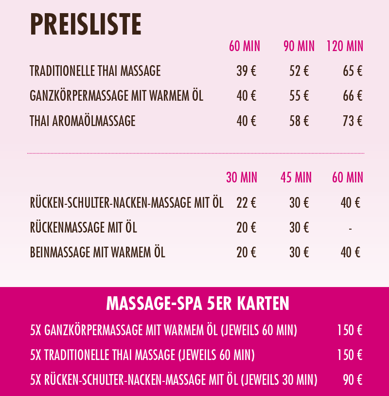 Thai massage nienburg